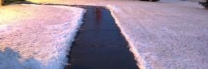 A de-iced Sidewalk